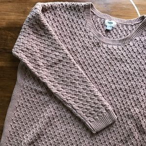 Mauve Chunky Knit Sweater